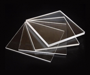 acrilico colado transparente